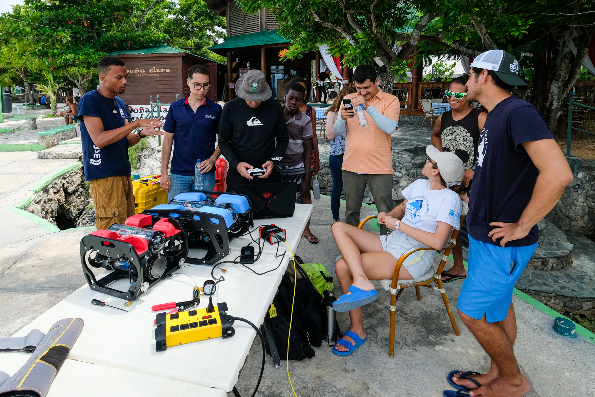 Coral restoration and monitoring with drones